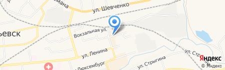 Приусадебное хозяйство на карте Гурьевска