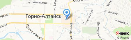 Основа на карте Горно-Алтайска