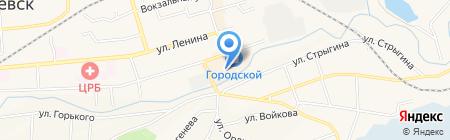 Светофор на карте Гурьевска