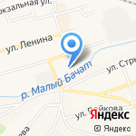 Магазин сумок и часов на карте Гурьевска