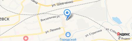 Холди на карте Гурьевска