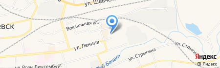 Основная общеобразовательная школа №16 на карте Гурьевска