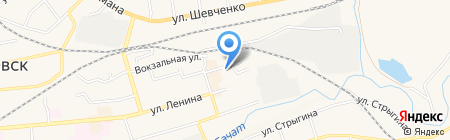 Сеть мебельных салонов на карте Гурьевска