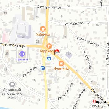 г. Горно-Алтайск, ул. Социалистическая, на карта