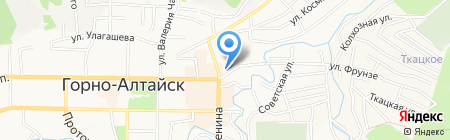 Средняя общеобразовательная школа №8 на карте Горно-Алтайска
