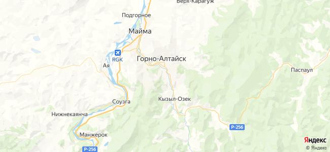Гостиницы и Отели Горно-Алтайска рядом с автовокзалом - объекты на карте