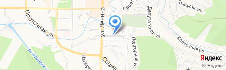 Якорь на карте Горно-Алтайска