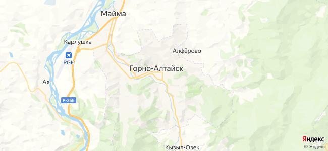 Горно-Алтайск - объекты на карте