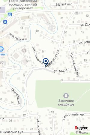 ГАРАЖ АДМИНИСТРАЦИЯ ТУРОЧАКСКОГО РАЙОНА на карте Горно-Алтайска