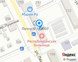 Схема местоположения почтового отделения 649007