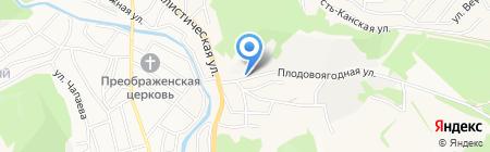 Бусьлъ на карте Горно-Алтайска