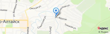 Успех на карте Горно-Алтайска