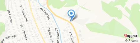 Шиномонтажная мастерская на Барнаульской на карте Горно-Алтайска