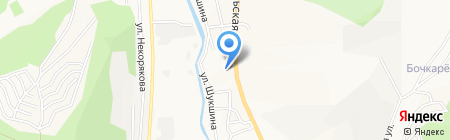 Мостовик на карте Горно-Алтайска