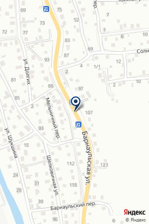 АЗС ФУРОР на карте Горно-Алтайска