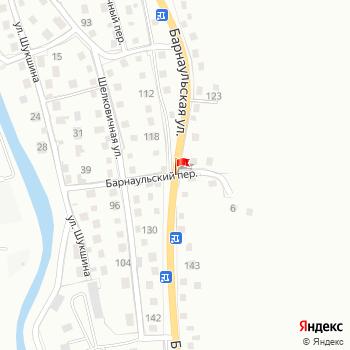 г. Горно-Алтайск, ул. Барнаульская, на карта