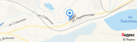 Енисей на карте Гурьевска