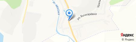 Бочкаревский на карте Горно-Алтайска