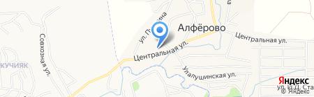 Начальная общеобразовательная школа на карте Алферово