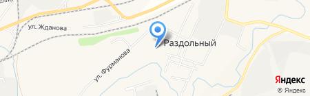 Раздольнинская основная общеобразовательная школа на карте Гурьевска