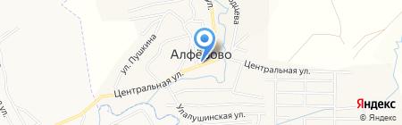 Любава на карте Алферово