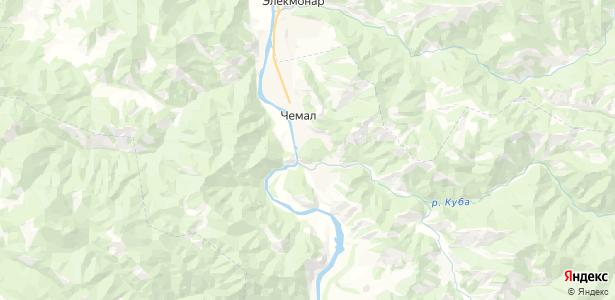 Чемал на карте