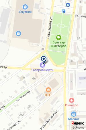 НЕФТЯНАЯ КОМПАНИЯ КУЗБАССНЕФТЕПРОДУКТ на карте Анжеро-Судженска