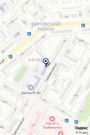 АНО АВТОШКОЛА МАГИСТРАЛЬ АВТО на карте Гурьевска