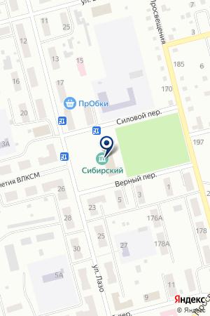 МУК ДВОРЕЦ КУЛЬТУРЫ СИБИРСКИЙ ДВОРЕЦ КУЛЬТУРЫ на карте Анжеро-Судженска