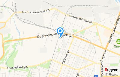 Местоположение на карте пункта техосмотра по адресу г Кемерово, ул Железнодорожная, д 41Б
