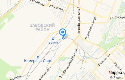 Местоположение на карте пункта техосмотра по адресу г Кемерово, пр-кт Кузнецкий, д 127Г