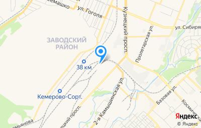 Местоположение на карте пункта техосмотра по адресу г Кемерово, пр-кт Кузнецкий, д 127Г литер а