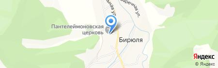 Средняя общеобразовательная школа на карте Бирюли