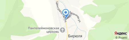 Бирюлинское сельскохозяйственное предприятие на карте Бирюли