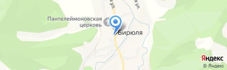 Алтын на карте Бирюли