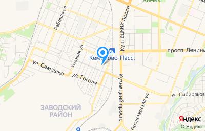 Местоположение на карте пункта техосмотра по адресу г Кемерово, ул Маяковского, д 13