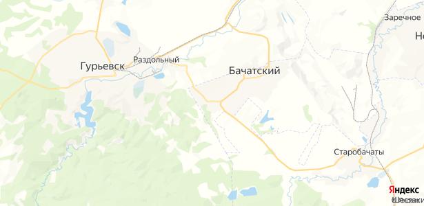 Бачатский на карте