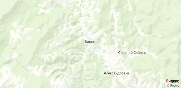Бирюля на карте