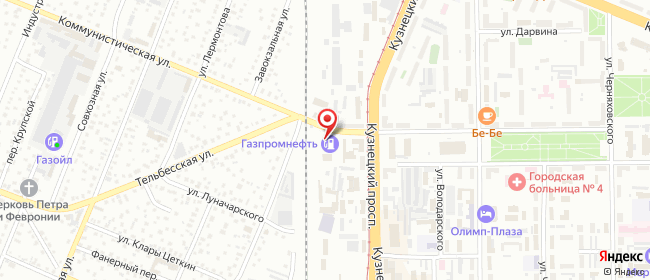 Карта расположения пункта доставки Lamoda/Pick-up в городе Кемерово