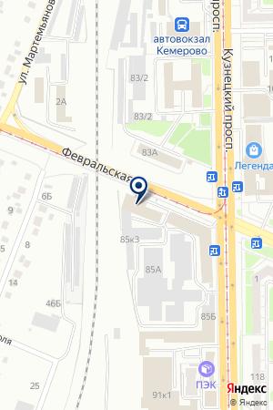 ХИМПЛЮС на карте Кемерово