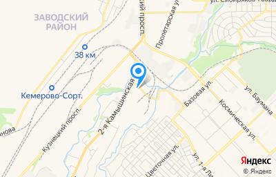 Местоположение на карте пункта техосмотра по адресу г Кемерово, ул 2-я Камышинская, д 2