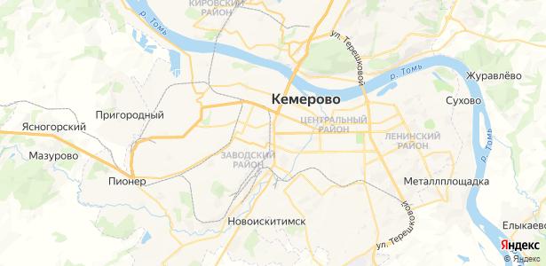 Кемерово на карте