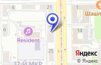 Схема проезда до компании Оазис в Кемерово
