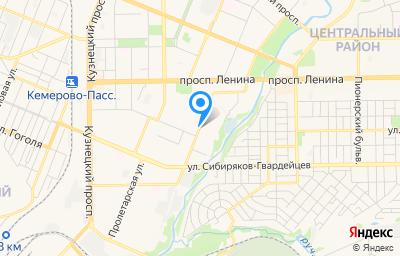 Местоположение на карте пункта техосмотра по адресу г Кемерово, ул Мичурина, д 112 стр к