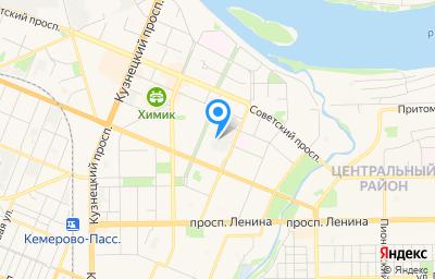 Местоположение на карте пункта техосмотра по адресу г Кемерово, ул 50 лет Октября, стр 11