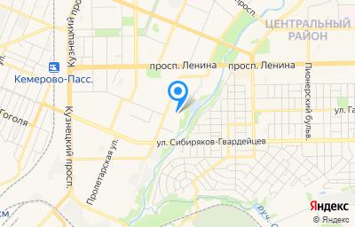 Местоположение на карте пункта техосмотра по адресу г Кемерово, ул Мичурина, д 112Л
