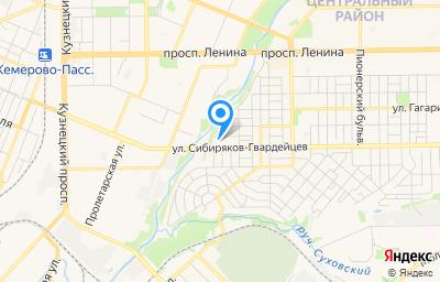 Местоположение на карте пункта техосмотра по адресу г Кемерово, ул Сибиряков-Гвардейцев, д 76
