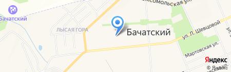 Скиф на карте Бачатского