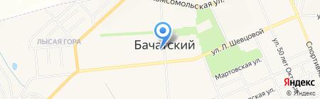 Отделение полиции Бачатское на карте Бачатского