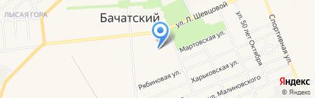 Горняк на карте Бачатского